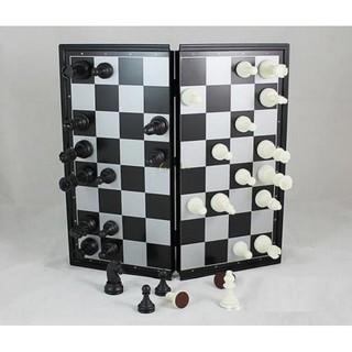 Bộ Cờ & Bàn cờ nhựa loại vừa có nam châm cho 2 người chơi