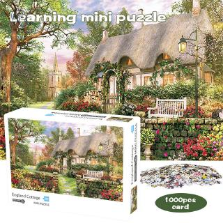 1000 Pieces England Cottage Jigsaw Puzzle for Adults Learning Education Games