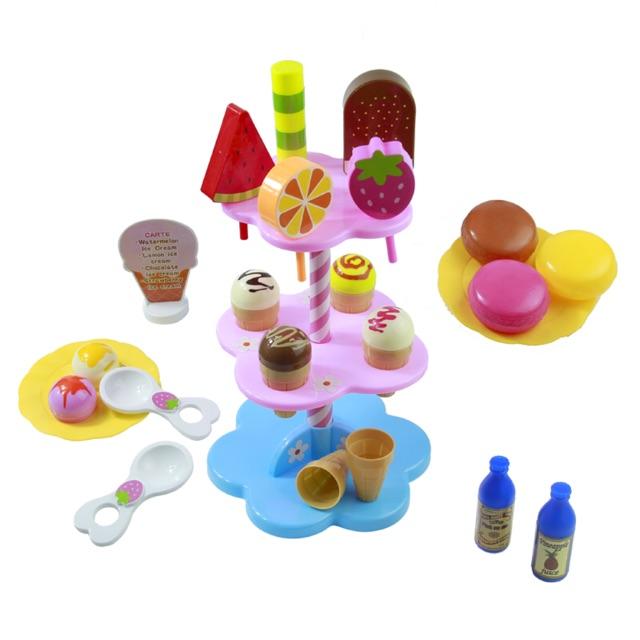 Bộ đồ chơi quầy kẹo kem mini