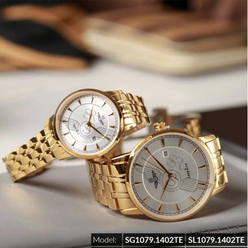 Đồng hồ Đôi SRWATCH SG1079.1402TE-SL1079.1402TE mặt kính Sapphire phong cách thời tr