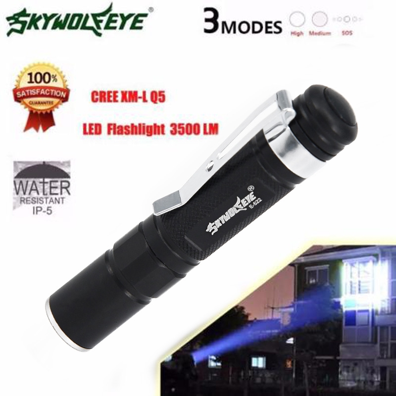 3500LM CREE XPE Waterproof LEDFlashlight Zoomable Torch Lamp Pocket Pen Camping