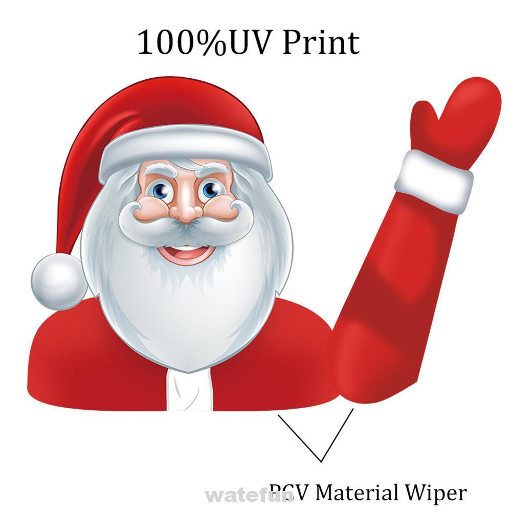 Wiper Sticker Christmas Car Santa Claus Cute Decoration Waving Window Tags Windshield