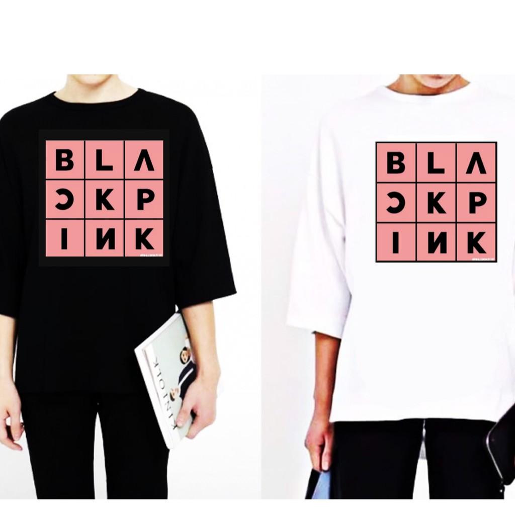 [ORDER] Áo tay lở ô chữ Black Pink