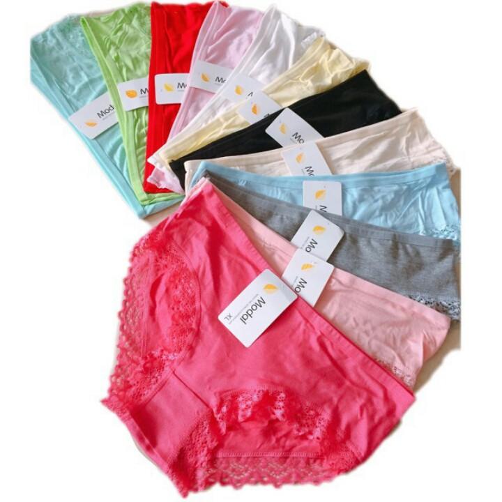 giá rẻ cho combo 10 quần lót nữ viền ren Modal .