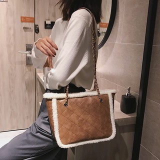 Women's bag plush shoulder bag shoulder bag