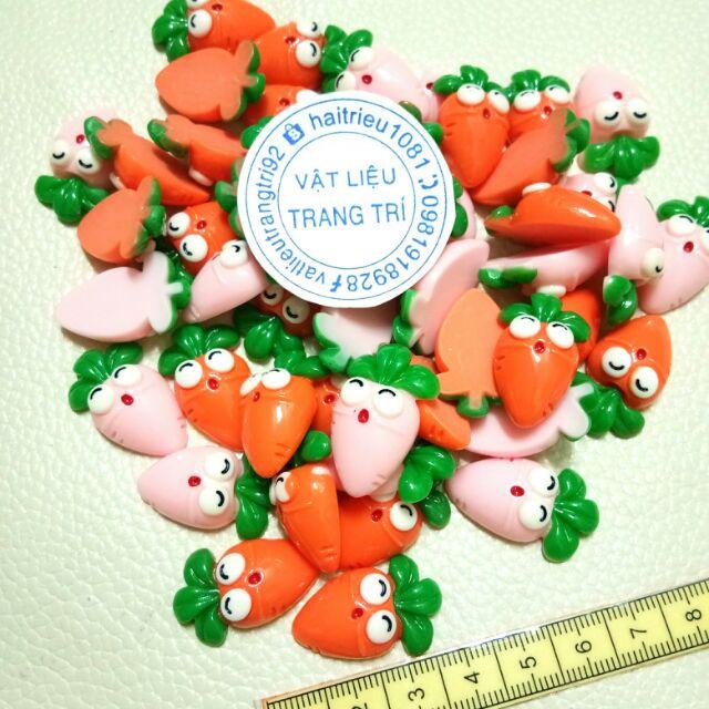 Cà rốt charm slime phụ kiện trang trí