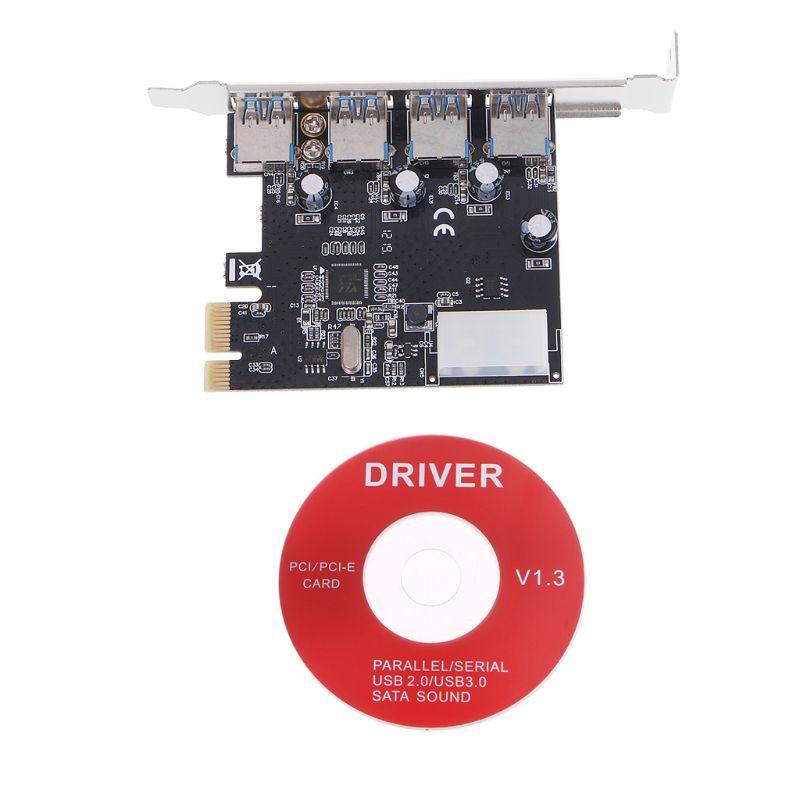 Bộ card chuyển đổi PCI-E sang 4 cổng USB 3.0 cao cấp