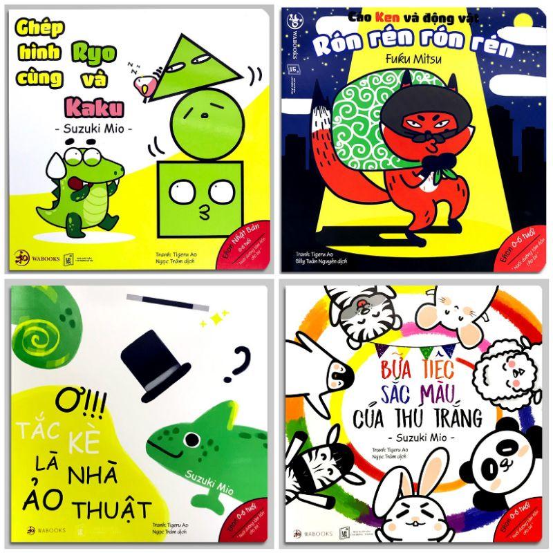 Sách - Combo 10c Ehon Hình khối, màu sắc, Cáo Ken âm thanh
