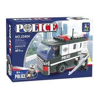 Bộ xếp hình Xe cảnh sát 23404 Ausini – 127 mảnh ghép