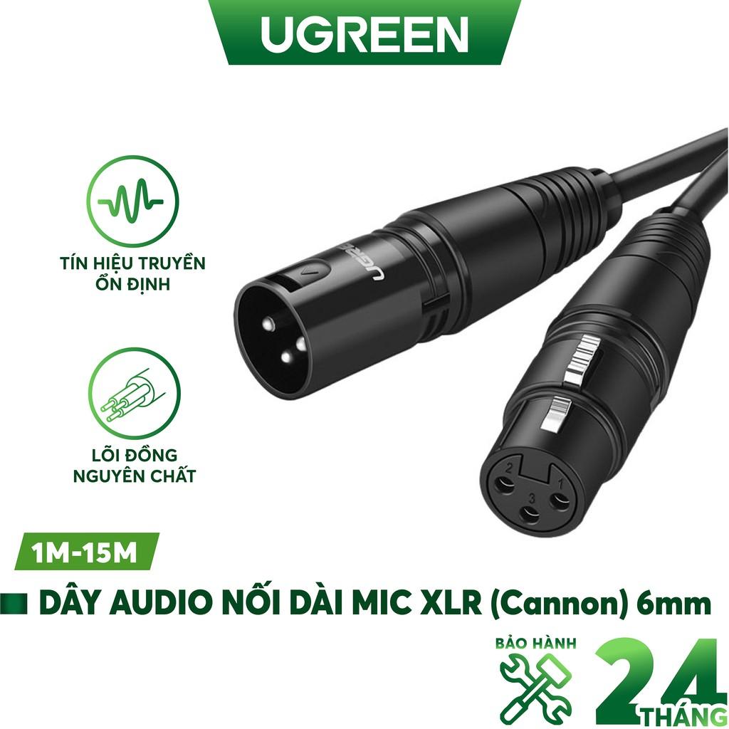 Dây Audio nối dài MIC XLR (Cannon) 6mm UGREEN AV130
