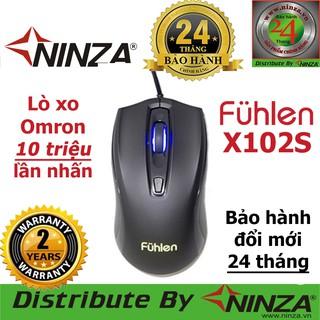 Chuột chơi game Fuhlen X102S, 2400DPI,Lò xo Omron 10 triệu click | SM680R M87S