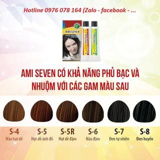 Nhuộm phủ bạc dược thảo Amiseven nhanh 7 phút AMI SEVEN (Loại tiết kiệm) (60g + 60g) Hàn Quốc thumbnail