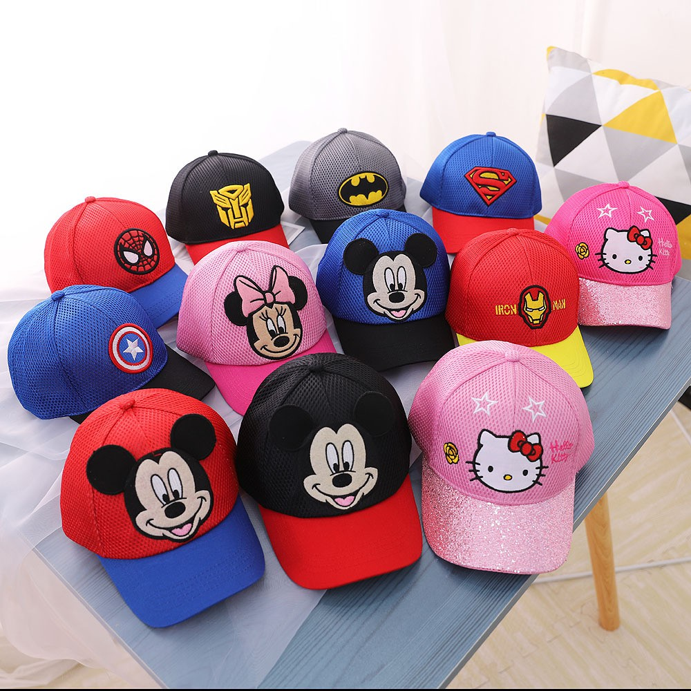 Mũ nón lưỡi trai trẻ em hoạt hình cho bé trai bé gái 3-6 tuổi (MUTE02)