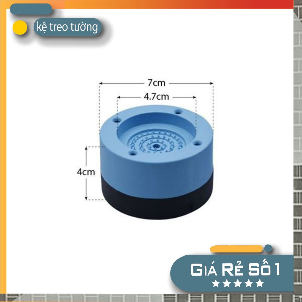 bộ 4 chân kê máy giặt tủ lạnh chất liệu cao su tổng hợp chống rung lắc hiệu quả