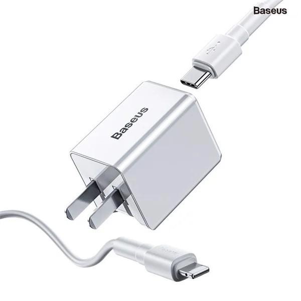 Bộ sạc nhanh đa năng Baseus Traveler Series PD/ QC3.0 18W dùng cho iPhone (Combo Củ sạc PD + Cáp C to Ligntning )