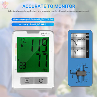 ET Upper Arm Automatic Blood Pressure Monitor Digital Sphygmomanometer Blood Pressure Meter Voice BP Machine with Large Cuff Fits 8.5-inch to 12.5-inch Arms 120 Sets of Data Irregular Heartbeat Detector for Home Use