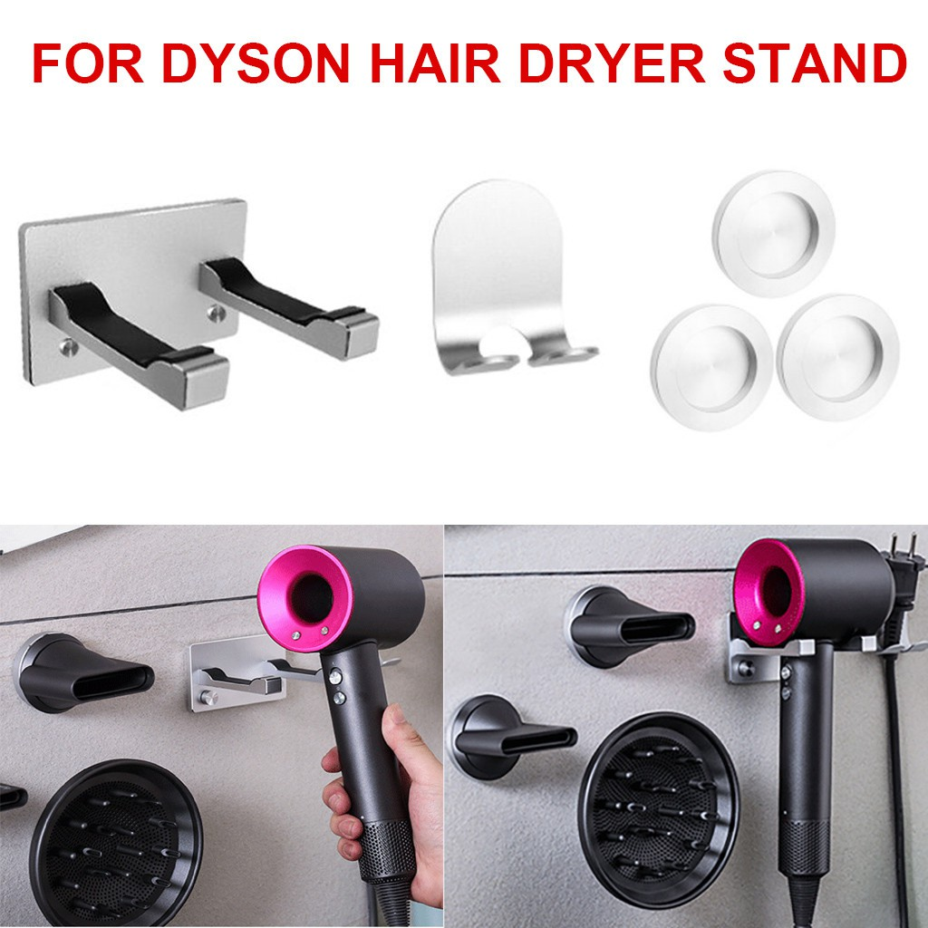 Magnetic Holder Wall Mount Bracket Stainless Steel Rack For Most Hair Dryers