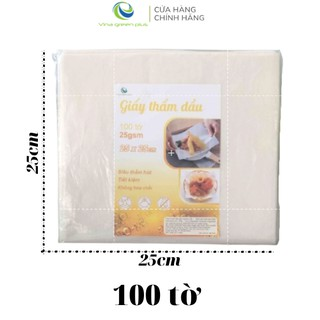 Giấy thấm dầu thực phẩm 100 tờ 25x25cm- Giấy Thấm Hút Dầu Mỡ Chiên Rán-TDD2525100 3