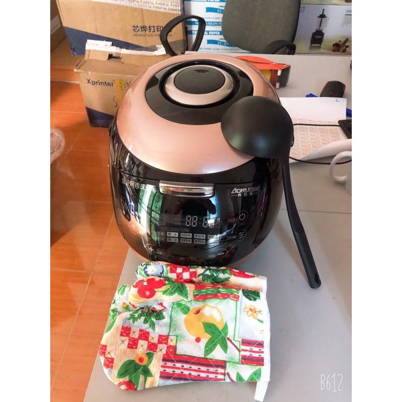 Nồi nấu trân châu tự động 100% + Tặng vợt múc trân châu + găng tay chống nóng