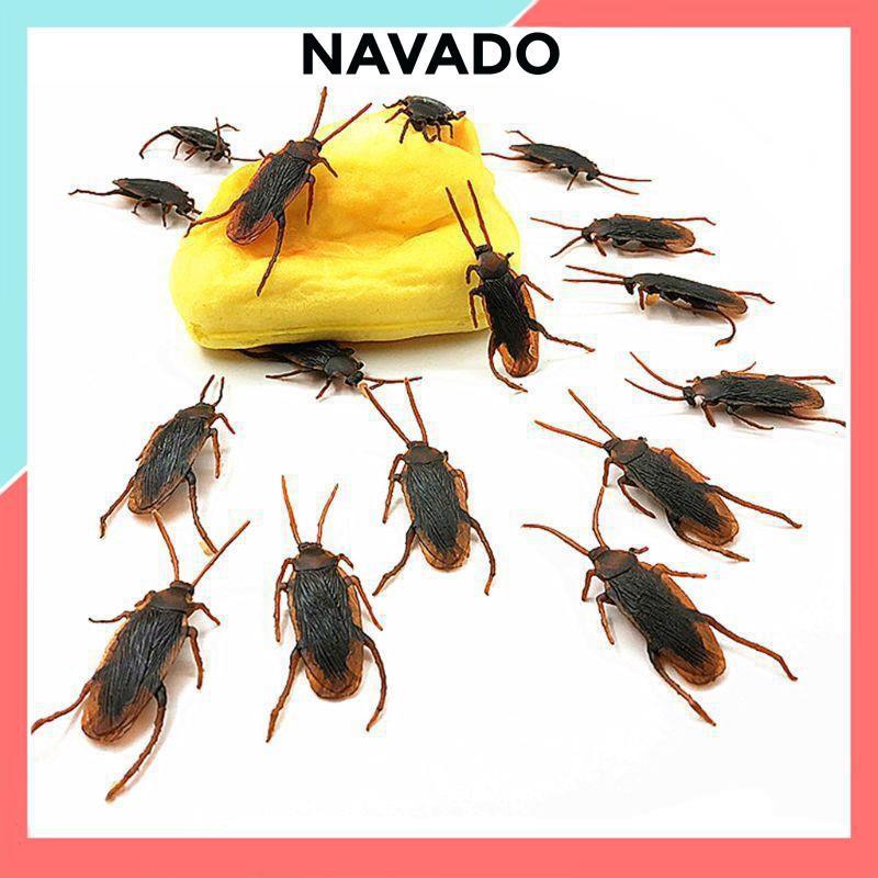 Đồ chơi con gián nhựa côn trùng giả tinh nghịch bằng nhựa dẻo trang trí Halloween, làm đồ chơi cho chó mèo G55 NAVADO