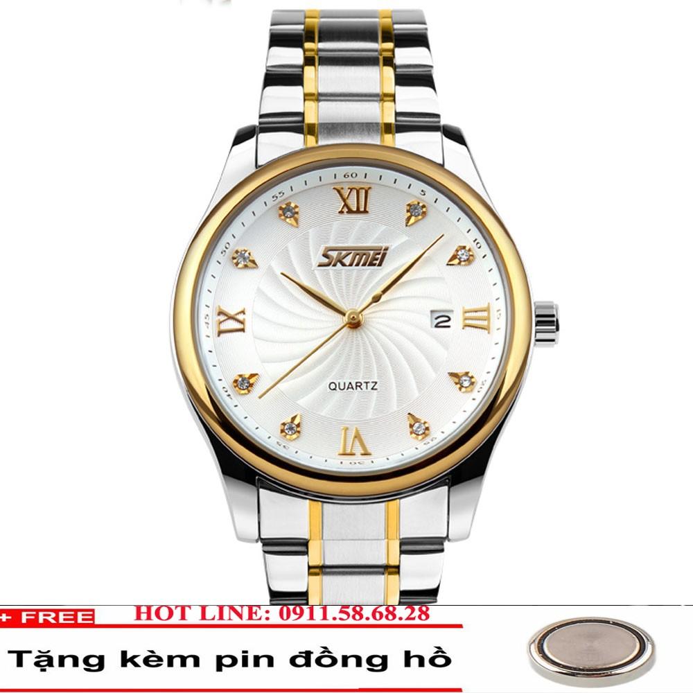 Đồng hồ nam dây thép dermi không gỉ SKMEI 9101 mã S01
