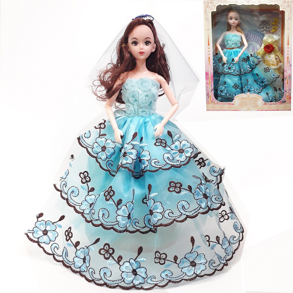 Đồ chơi Búp bê Barbie cô dâu cho bé có khớp kèm Đầm dạ hội Phụ kiện búp bê  (cao 30cm), Giá tháng 12/2020