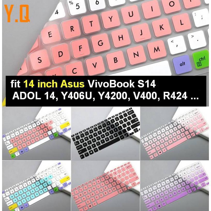 [asus vivobook flip 14] Trend: a412 Miếng Lót Bàn Phím Silicon 14 Inch Sử Dụng Tiện Lợi Cho Asus Vivobook S14 Prado14 Y406U …