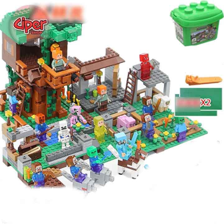 Lego minecraft Mô hình lắp ráp mẫu 1398 - 8 nhân vật - 3039676 , 846692537 , 322_846692537 , 449000 , Lego-minecraft-Mo-hinh-lap-rap-mau-1398-8-nhan-vat-322_846692537 , shopee.vn , Lego minecraft Mô hình lắp ráp mẫu 1398 - 8 nhân vật