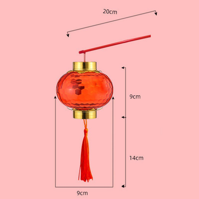 Projection small bell pepper children's portable lantern Crystal Luminous lantern Spring Festival and New Year's Day dec