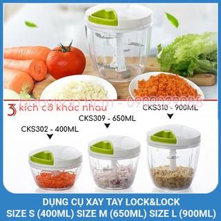 Dụng Cụ Xay Tỏi Ớt Băm Nhỏ Thực Phẩm Lock&Lock Đủ Size Đủ Màu CKS302 CKS307 CKS308 CKS309 CKS310 400ml 600ml 900ml