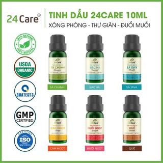 Tinh dầu 24Care nguyên chất 10ml – xông thơm phòng, khử mùi, xua đuổi côn trùng
