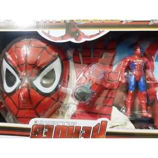 (Bán lấy đơn) Mặt nạ siêu anh hùng piderman dùng pin phát sáng (kèm pin)