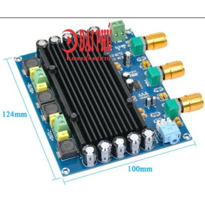 Mạch Amplifier Digital Power TPA3116D2 2.0 150Wx2 DC12-24V + Tone board - DIY amplifier 2.0 dùng b