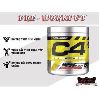 PRE WORKOUT C4 CELLUCOR - Sản phẩm hỗ trợ tăng sức mạnh cơ bắp ( 60 lần dùng ) thumbnail