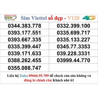 Sim Viettel V120 đầu 09 số đẹp giá rẻ 61