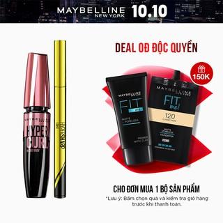 [Bộ trang điểm] Bút kẻ mắt nước Hyper Sharp 0.5g+ Mascara Dài Mi và Cong Mi Hyper Curl 9.2ml Maybelline New York