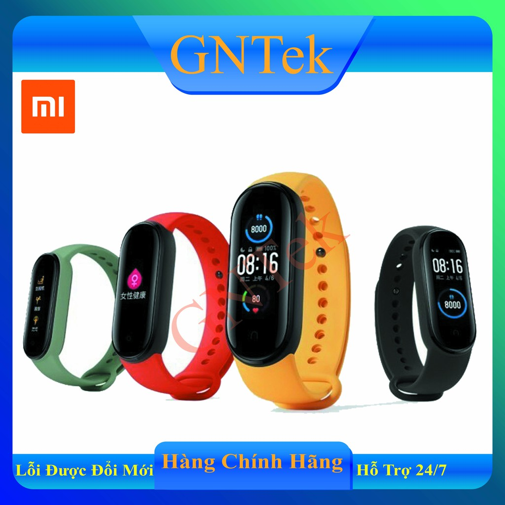 [CHÍNH HÃNG XIAOMI-CÓ TIẾNG VIỆT] Vòng đeo tay thông minh Xiaomi Mi Band 4 Mi Band 5- Theo dõi sức khỏe, Pin siêu bền