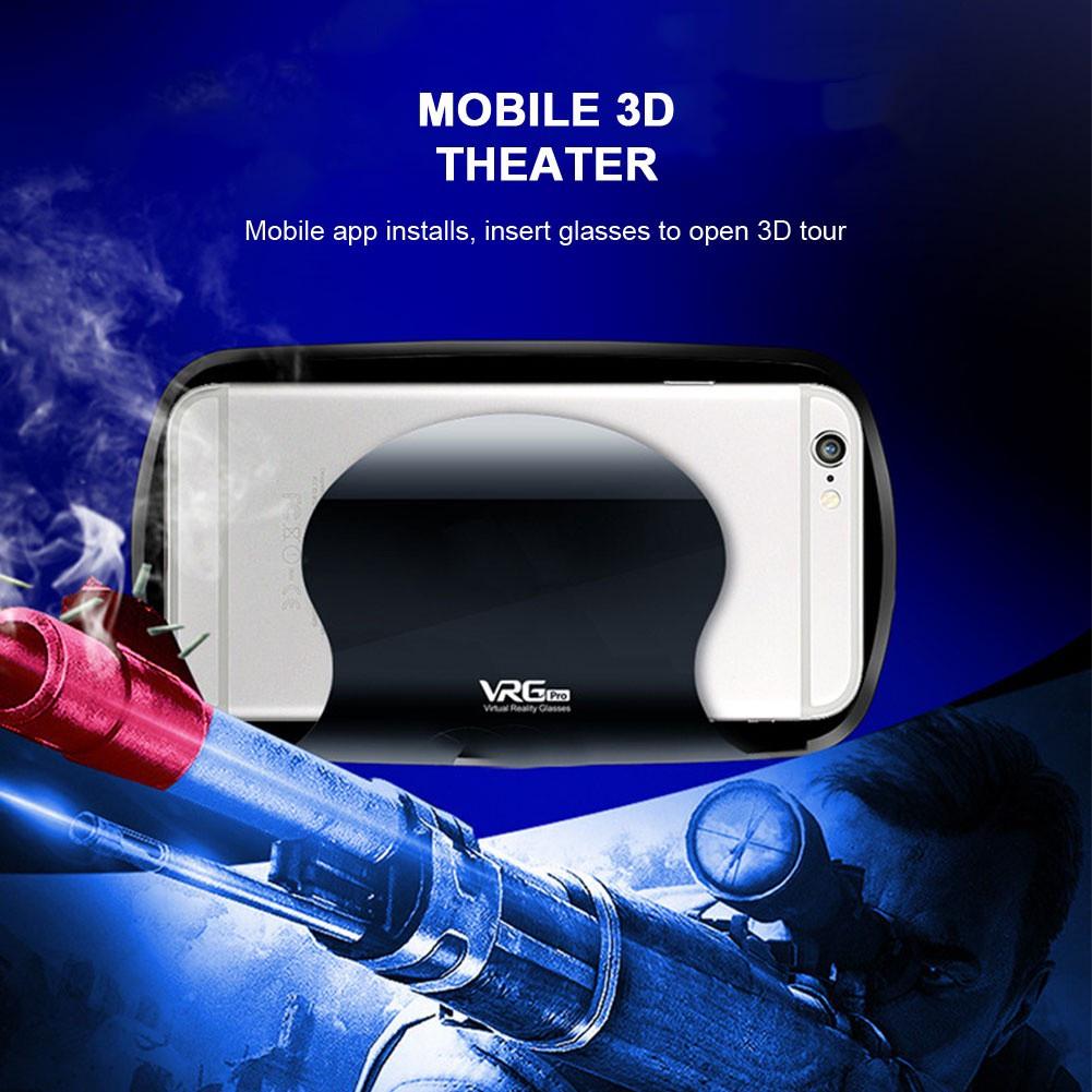Virtual Reality Glasses 3D VR Glasses 5~7inch Smartphone Travel VRG PRO Aspheric Lens Portable VR Headset Glasses