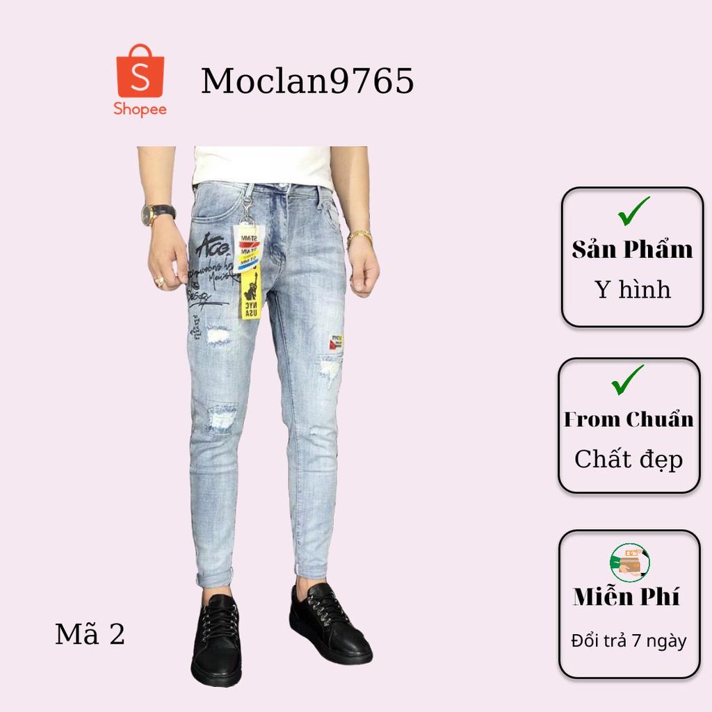 Quần jean nam cao cấp, chất liệu bò ( jean ) mềm mịn, from chuẩn, có nhiều mẫu đi kèm Moclan07