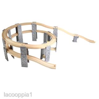 Wooden Trains Track Spiral Track City Traffic Building Kits Educational Toy