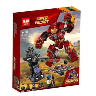 (HÀNG CÓ SẴN) Mẫu lắp ráp Siêu Người Máy Hulkbuster Đại Chiến LegoMarvel 76104 Lepin 07102
