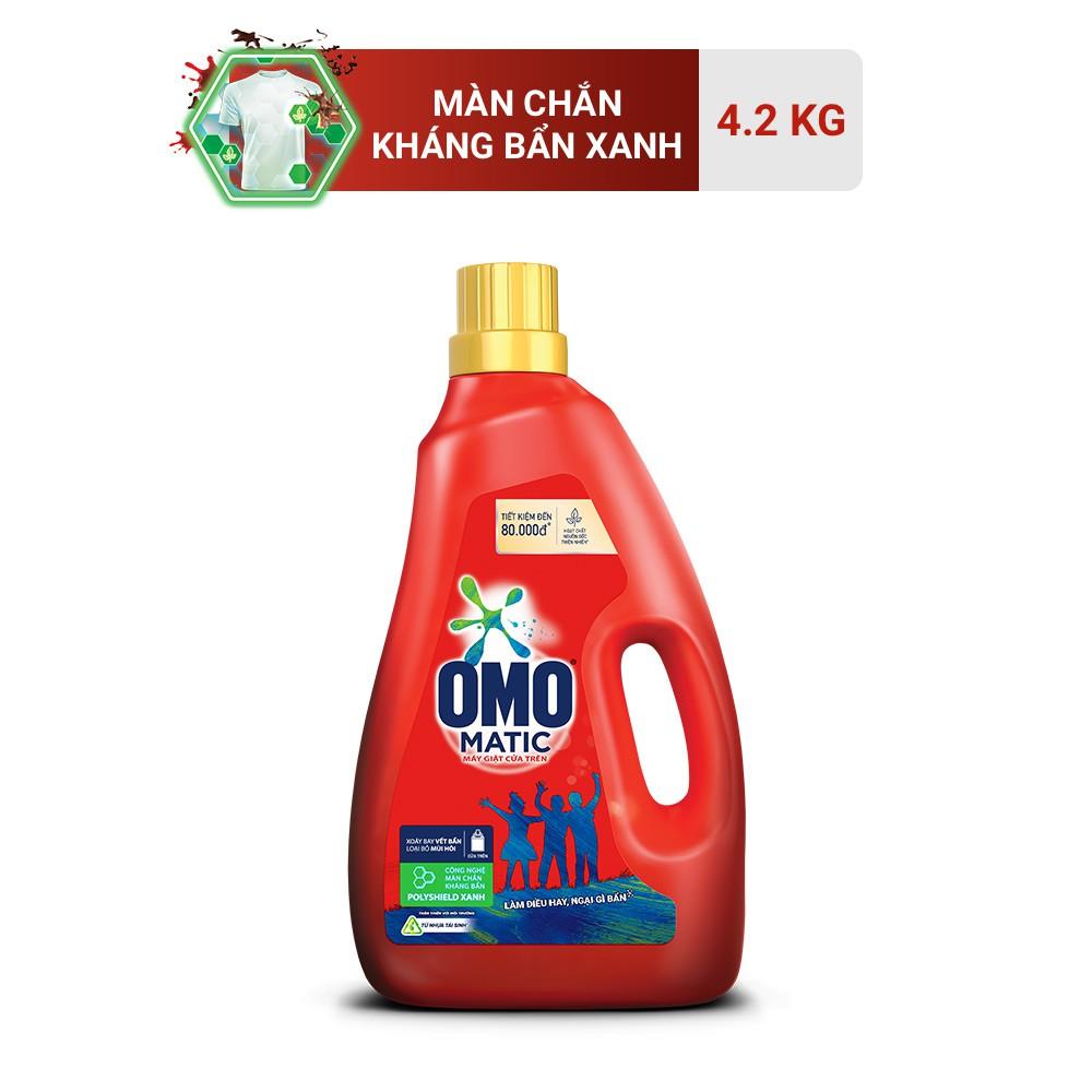 Nước giặt Omo Matic cửa trên chai 4.2kg