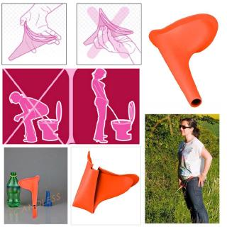 Women Girls Portable Urinal Outdoor Stand Up Pee Urination Device Orange