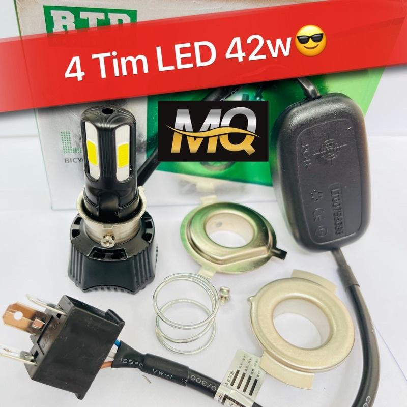 ĐÈN PHA LED C6 3 TIM LED H4 (GIÁ 1 BÓNG)
