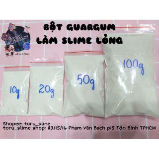 Bột Guargum làm Slime Nước Lỏng