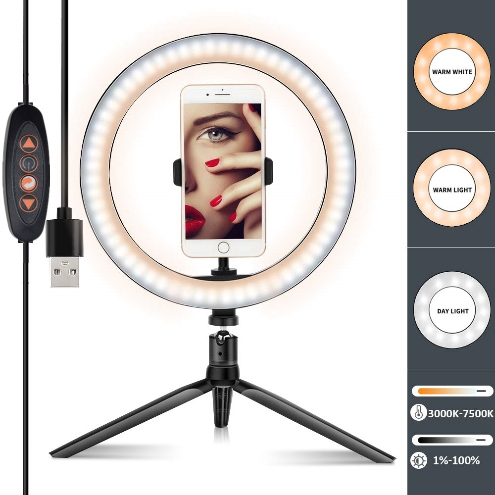 Đèn Led Dạng Vòng Tròn 26cm Hỗ Trợ Chụp Ảnh