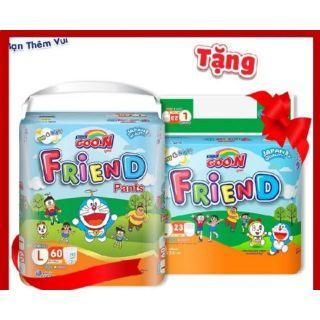 Combo 2 Bịch Bỉm Quần Goon Friend Tặng 2 Gói Nhỏ Cùng Size S62 5 M58 5 L48 5 XL42 5 XXL34 5