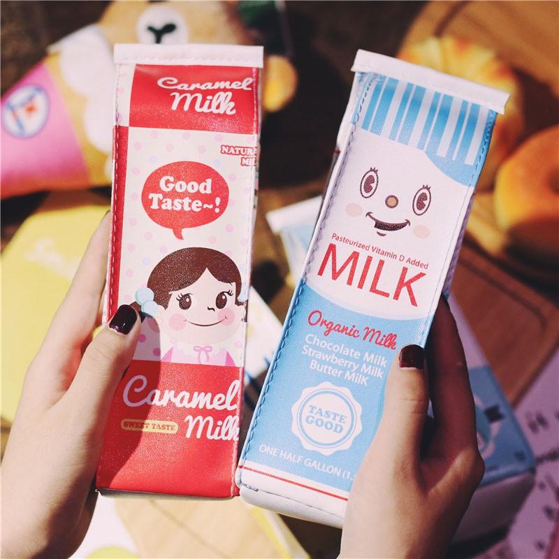 [Ảnh Thật] Túi Đựng Bút Hình Hộp Sữa Hot Trend 2019 Hộp Đựng Bút Siêu Cá Tính Cho Teen Đến Lớp ^^