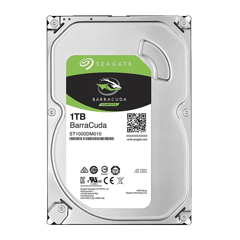 [Mã ELMA300 giảm 10% đơn 250k] Ổ cứng cắm trong Seagate BarraCuda Hard Drive 1TB 3.5