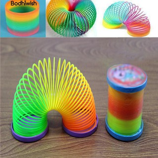 ☎Rainbow Plastic Spring bauble Walking Slinky Magic Circle Stretchy Kids